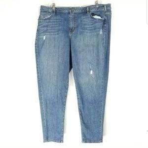 Lane Bryant Womens Size 26 Boyfriend Jeans Distres